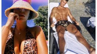 Georgina e Cristiano Ronaldo, relax tra addominali e décolleté esplosivo