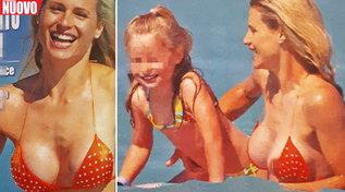 Michelle Hunziker, che seno incontenibile al mare!