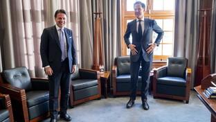 Giuseppe Conte incontra all'Aja il premier olandese Mark Rutte
