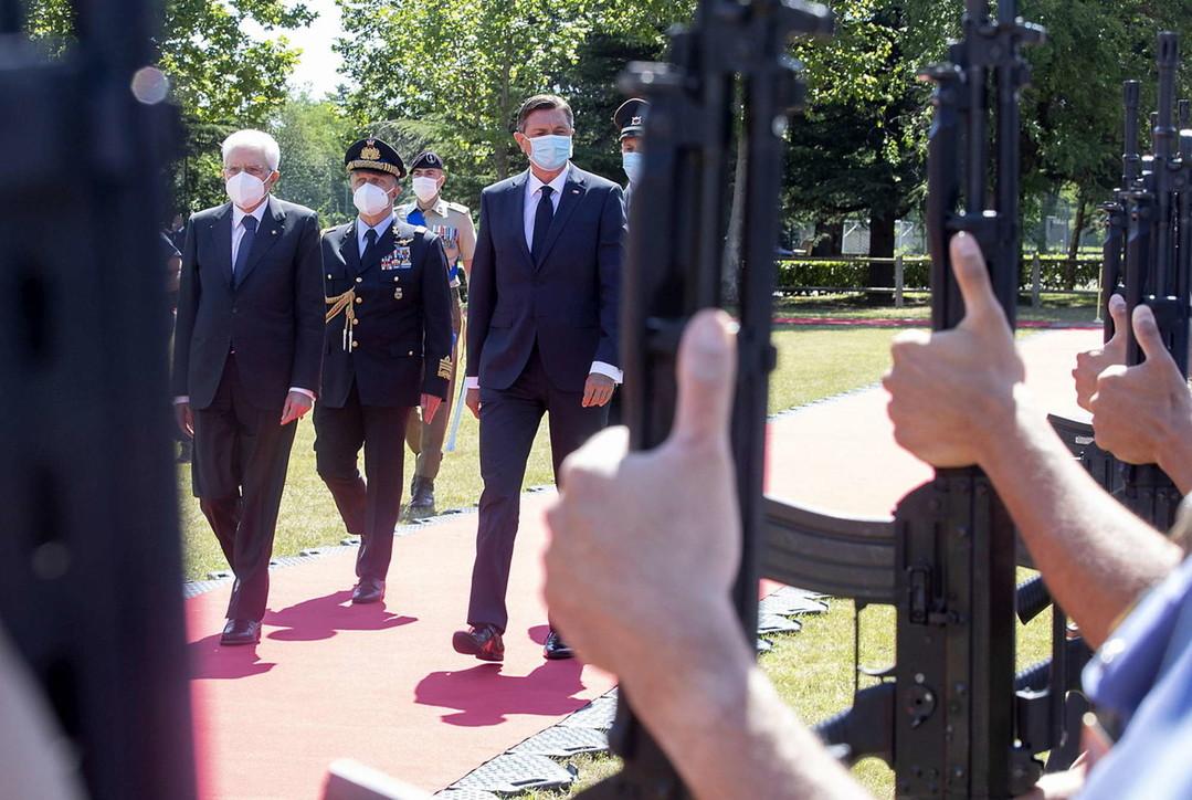 Incontro Mattarella-Pahor sul Carso triestino