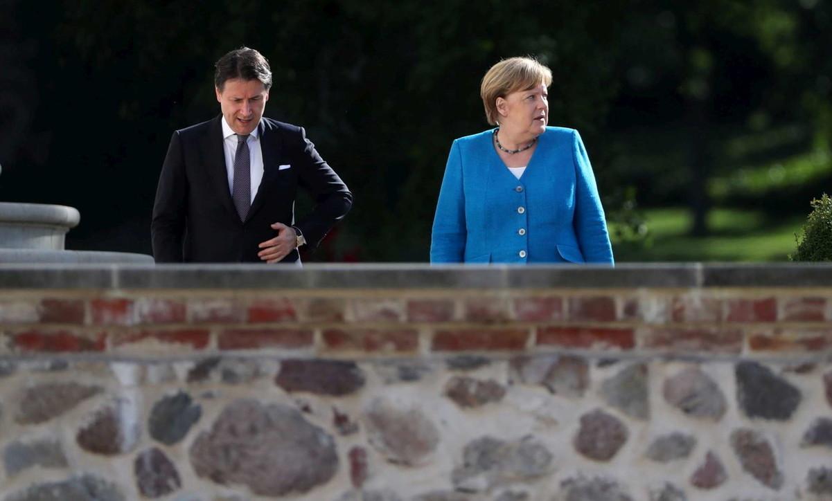 Vertice Merkel-Conte: subito una intesa Ue per battere la crisi