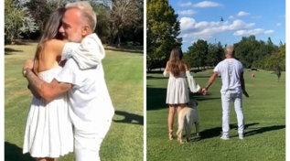 Gianluca Vacchi svela il sesso del bebè: l'annuncio dall'elicottero