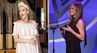Katy Perry sceglie Jennifer Aniston come madrina per la sua bambina... in arrivo
