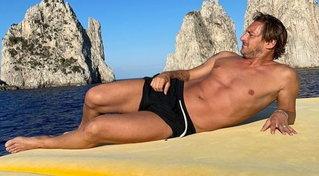 Francesco Totti, che fisico per l'ex capitano!