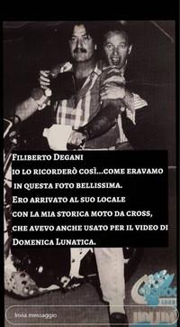 Vasco Rossi e Vinicio Capossela ricordano il talent scout Filiberto Degani