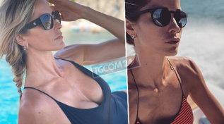 """Elena Santarelli e il seno rifatto: """"Prima o poi scendono anche queste"""""""