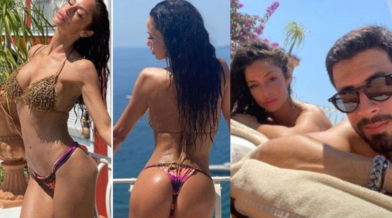 Raffaella Fico a Positano tra fidanzato e pose hot