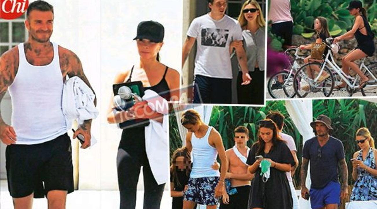 David e Victoria Beckham in vacanza in Puglia con la nuora