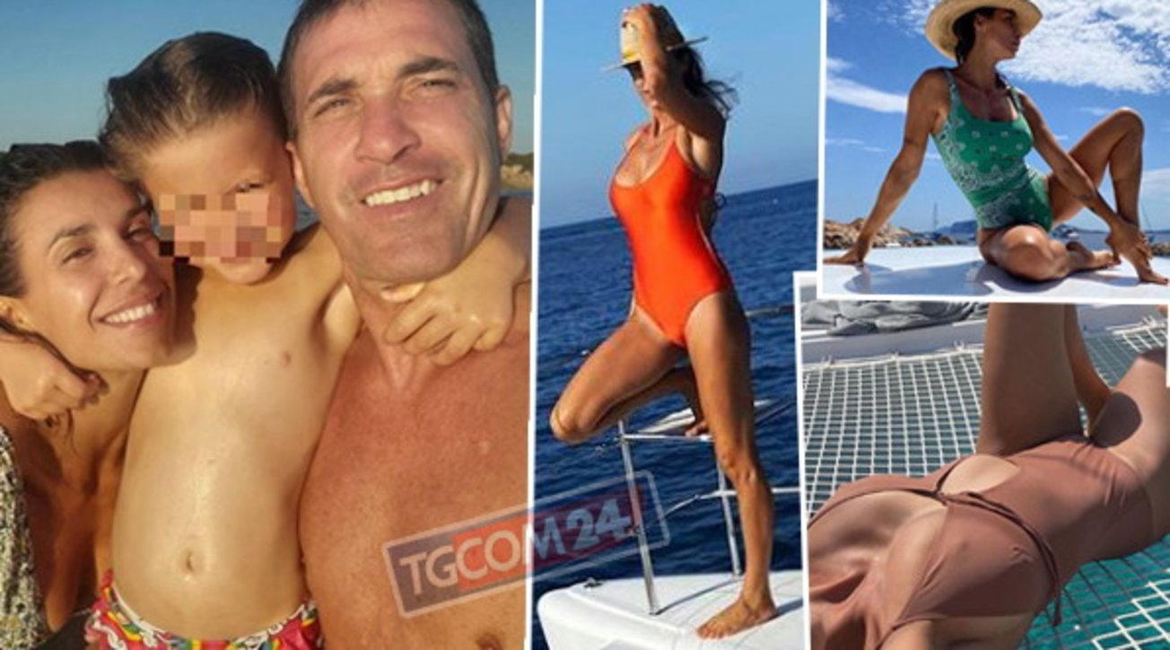 Elisabetta Canalis in catamarano tra pose sexy e scatti di ...
