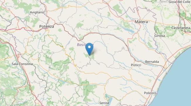 Terremoto di magnitudo 2.8 nel Materano, nessun danno registrato