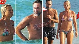 Antonella Elia pizzicata in spiaggia con Pietro: l'ha perdonato? I fan sul piede di guerra...