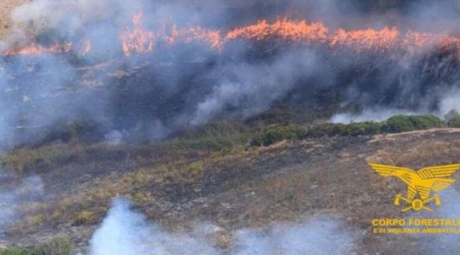 Incendi, oltre 30 ettari devastati dal fuoco in Sardegna