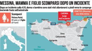 Messina, madre e figlio scomparsi dopo un incidente