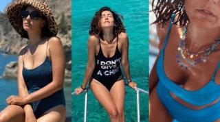 Per Caterina Balivo un'estate spensierata in costume da bagno (dopo l'arrivederci alla tv)