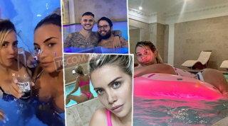Vacanze low-cost per Wanda Nara? Relax e birra in piscina a Parigi