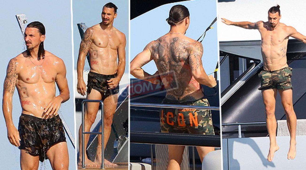 Per Ibrahimovic tuffi e allenamenti sullo yacht a Saint Tropez