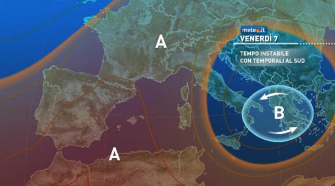 Meteo, Italia divisa:sole e caldo al Nord, rischio temporali al Sud