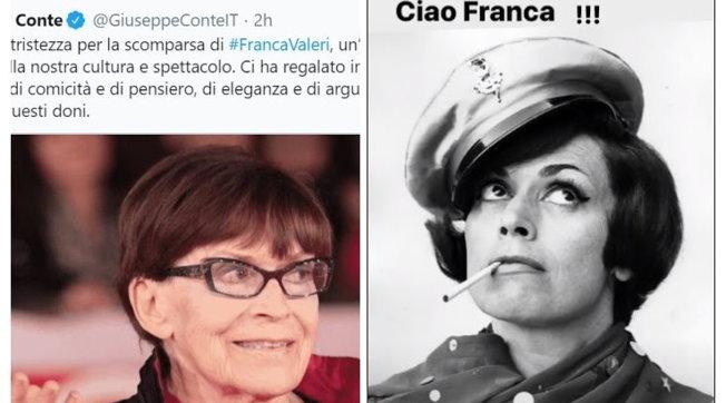 Franca Valeri, il cordoglio di politici e famosi