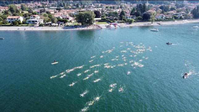 """Dalla gara virtuale inlockdown al ritorno alla realtà, i nuotatori in acque libere nel Lago Maggiore: """"Insieme si può"""""""