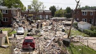 Usa, esplosione a Baltimora: case crollate, un morto e feriti