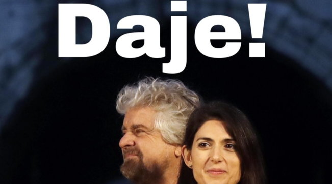 """Roma, la 'benedizione' di Grillo alla candidatura di Virginia Raggi: """"Daje!"""""""