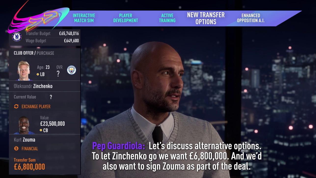 FIFA 21, le immagini della nuova modalità Carriera