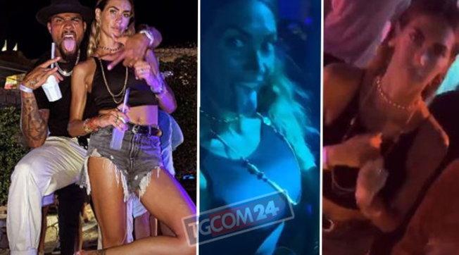 Melissa Satta e Boateng, feste scatenate nella notte smeralda