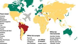 Coronavirus, da quali Paesi del mondo è consentito viaggiare verso l'Italia