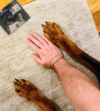 Tiziano Ferro e il caneBeau, le foto social