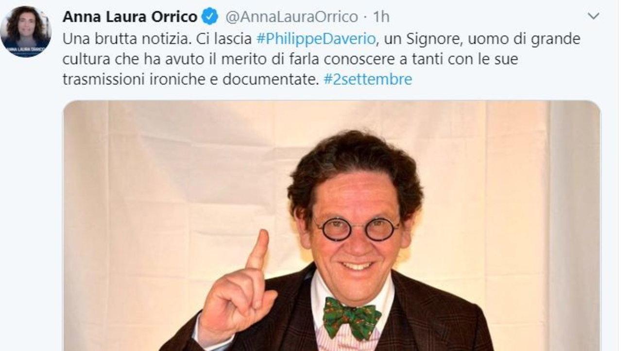 E' morto Philippe Daverio: da Sala a Fontana ecco i messaggi di cordoglio sui social