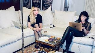 Madonna al lavoro sul film autobiografico
