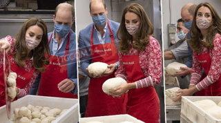 Kate Middleton e il principe William panettieri per un giorno a Londra