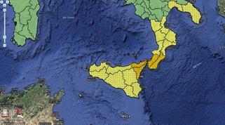 Maltempo, temporali al Sud: allerta arancione su Calabria e Sicilia