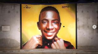 Paliano, realizzato un muralein memoria di Willy Monteiro Duarte