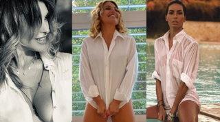 Camicia bianca o bagnata: alle vip piace il sapore della seduzione vintage