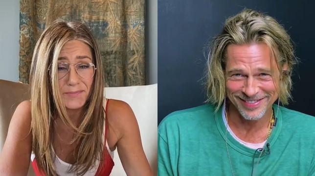Conversazione piccante tra gli ex Brad Pitt e Jennifer Aniston