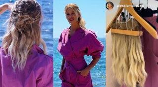 Prima di Temptation Island Alessia Marcuzzi mostra la parrucca... appesa