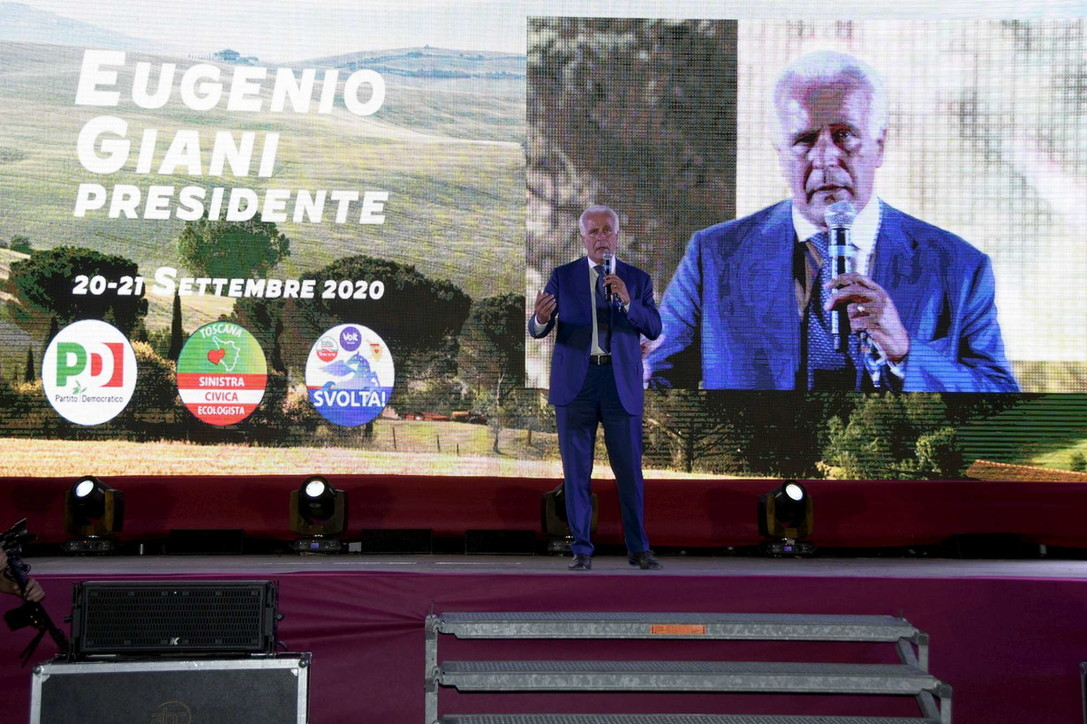 "Toscana,Giani (Pd): ""La scelta è trail rinnovamento eil pessimismodi Salvini"""
