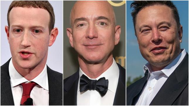 Zuckerberg, Bezos e Musk sempre più ricchi: per i paperoni americani guadagni per 845 miliardi di dollari con la pandemia