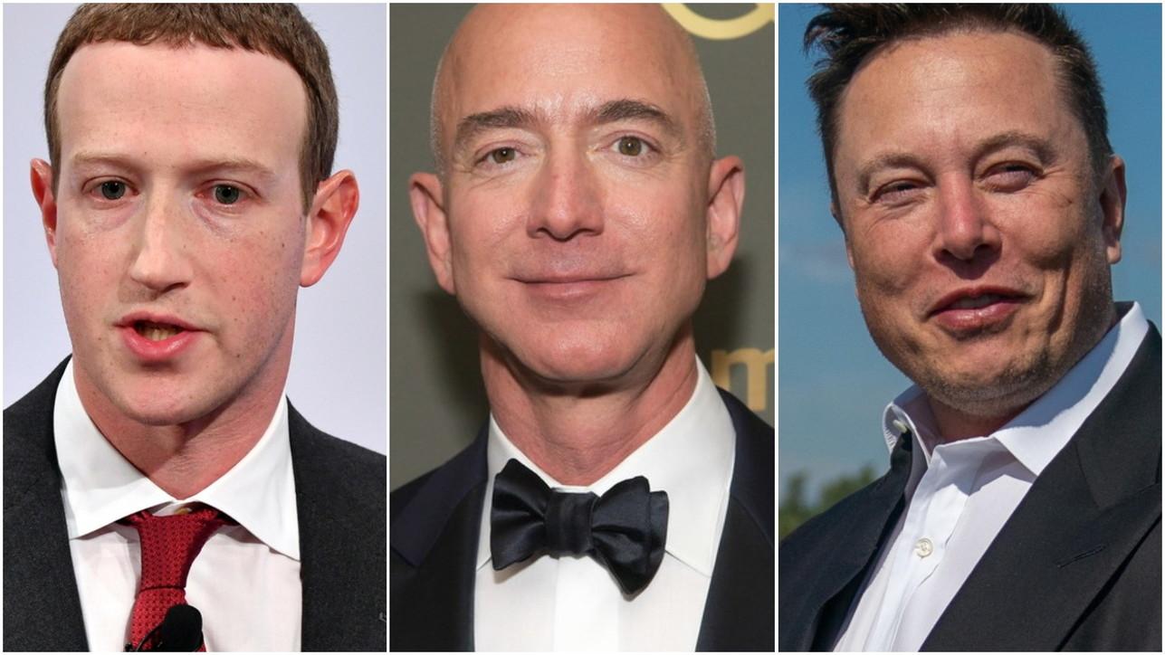 Zuckerberg, Bezos e Musk sempre più ricchi: per i paperoni Usa guadagni per 845 miliardi di dollari con la pandemia