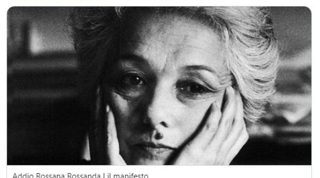 Morta Rossana Rossanda, fu dirigente del Pci e co-fondatrice del Manifesto | Gallery (le foto storiche)