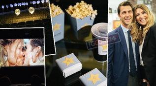 Cristina Chiabotto per l'anniversario di nozze prenota tutto il cinema