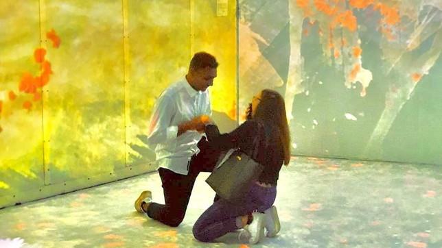 "Proposta di nozze ""a regola d'arte"" al Teatro degli Arcimboldi di Milano"