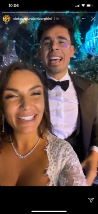 Elettra Lamborghini, nozze con un party notturno