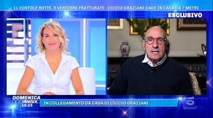 """Ciccio Graziani racconta il suo incidente domestico: """"Volo di 7 metri da una scala, due giorni in terapia intensiva"""""""