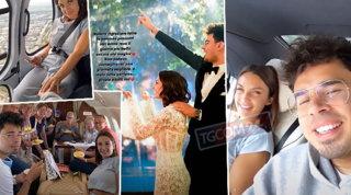 Dopo le nozze sul lago, Elettra Lamborghini in elicottero verso la luna di miele