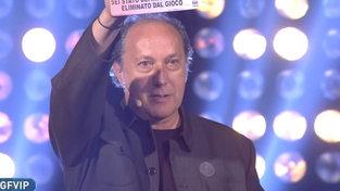 """""""GF Vip"""", Fulvio Abbate è il primo eliminato, in nomination Morra, Zorzi, Dosio, Oppini, Mello, Del Vesco e le """"Rutas"""""""