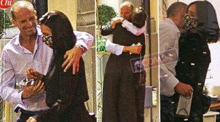 Massimiliano Allegri e Ambra Angiolini a Roma, va in scena l'amore mascherato