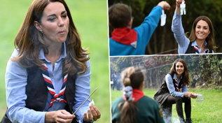 Kate Middleton scout per un giorno a Londra