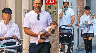 Cristina Marino e Luca Argentero, shopping con la neonata